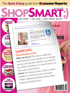 2008 ShopSmart magazine cover with DearReader.com mention
