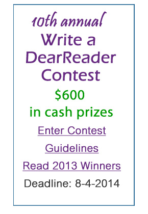 Enter 2014 Write a DearReader Contest